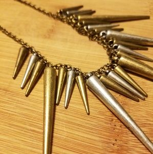 Jewelry - Rustic Spike Two Tone Necklace